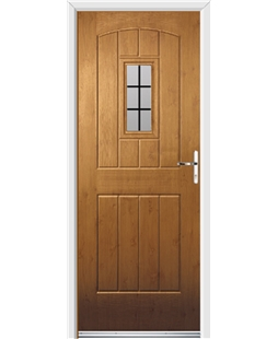 Ultimate English Cottage Rockdoor in Irish Oak with Square Lead
