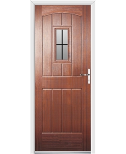 Ultimate English Cottage Rockdoor in Mahogany with Square Lead
