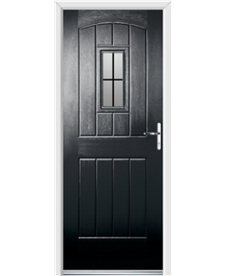 Ultimate English Cottage Rockdoor in Onyx with Square Lead