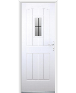 Ultimate English Cottage Rockdoor in White with Square Lead