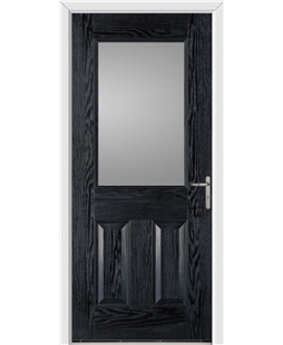 Exeter FD30s Fire Door in Black