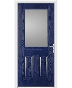 Exeter FD30s Fire Door in Blue