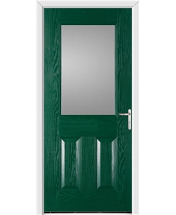 Exeter FD30s Fire Door in Green