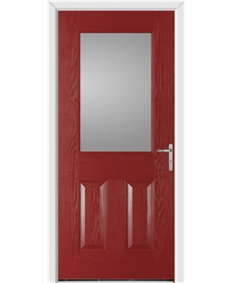 Exeter FD30s Fire Door in Red
