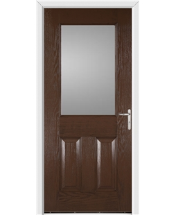 Exeter FD30s Fire Door in Rosewood
