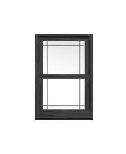 Kent uPVC Sliding Sash Window in Anthracite Grey