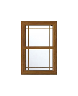 Kent uPVC Sliding Sash Window in Golden Oak