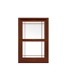Kent uPVC Sliding Sash Window in Rosewood