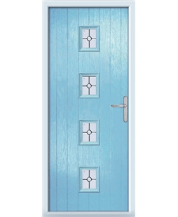 The Uttoxeter Composite Door in Blue (Duck Egg) with Finesse Glazing