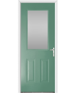 Exeter FD30s Fire Door in Foly Green