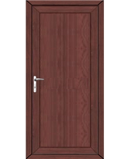 Flat Panel uPVC High Security Door (home use) In Rosewood