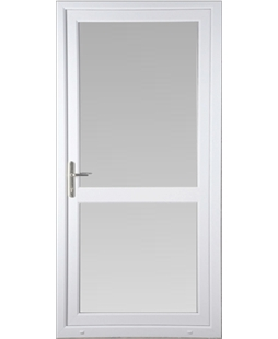 Full Glass uPVC High Security Door with Midrail