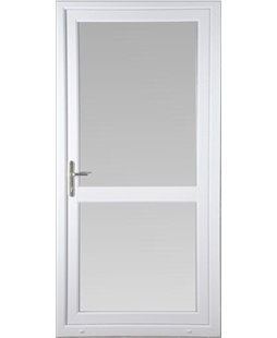 Full Glass uPVC Back Door with Midrail