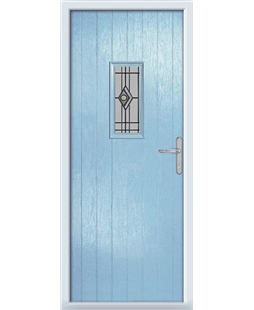 The Taunton Composite Door in Blue (Duck Egg) with Fusion Graphite
