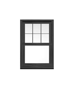Essex uPVC Sliding Sash Window in Anthracite Grey