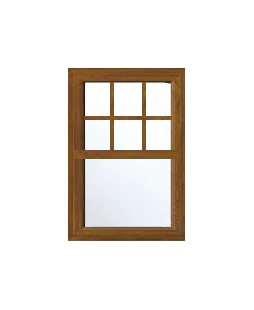 Essex uPVC Sliding Sash Window in Golden Oak