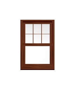 Essex uPVC Sliding Sash Window in Rosewood