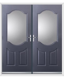 Georgia French Rockdoor in Anthracite Grey with Glazing