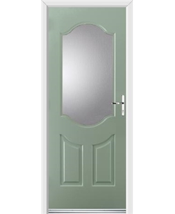 Ultimate Georgia Rockdoor in Chartwell Green with Glazing