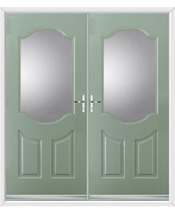 Georgia French Rockdoor in Chartwell Green with Glazing