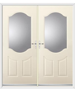 Georgia French Rockdoor in Cream with Glazing