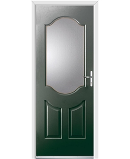 Ultimate Georgia Rockdoor in Emerald Green with Glazing