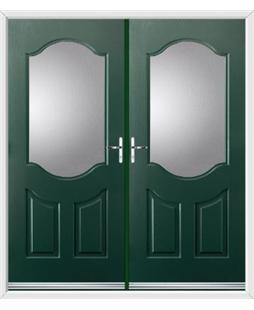 Georgia French Rockdoor in Emerald Green with Glazing