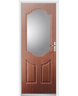 Ultimate Georgia Rockdoor in Mahogany with Glazing