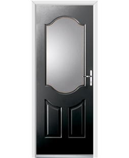 Ultimate Georgia Rockdoor in Onyx Black with Glazing