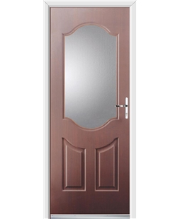 Ultimate Georgia Rockdoor in Rosewood with Glazing