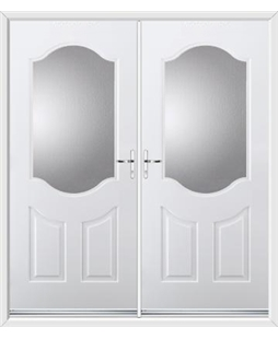 Georgia French Rockdoor in White with Glazing