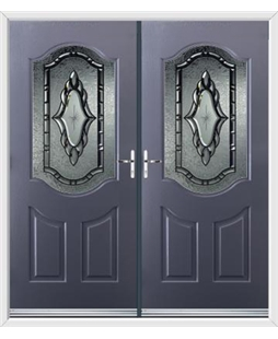 Georgia French Rockdoor in Anthracite Grey with Constellation Glazing