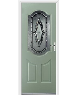 Ultimate Georgia Rockdoor in Chartwell Green with Constellation Glazing