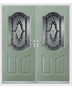 Georgia French Rockdoor in Chartwell Green with Constellation Glazing