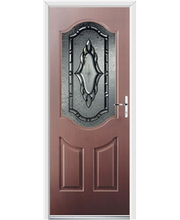 Ultimate Georgia Rockdoor in Mahogany with Constellation Glazing