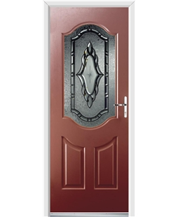 Ultimate Georgia Rockdoor in Ruby Red with Constellation Glazing