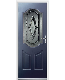 Ultimate Georgia Rockdoor in Sapphire Blue with Constellation Glazing