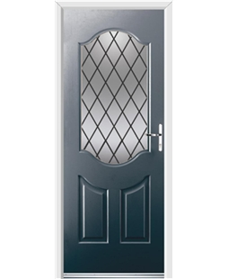 Ultimate Georgia Rockdoor in Anthracite Grey with Diamond Lead