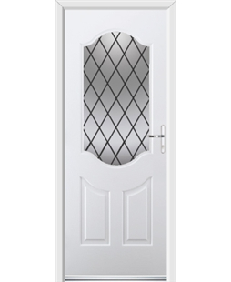 Ultimate Georgia Rockdoor in Blue White with Diamond Lead