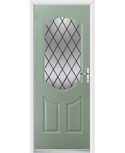 Ultimate Georgia Rockdoor in Chartwell Green with Diamond Lead
