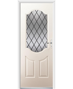 Ultimate Georgia Rockdoor in Cream with Diamond Lead