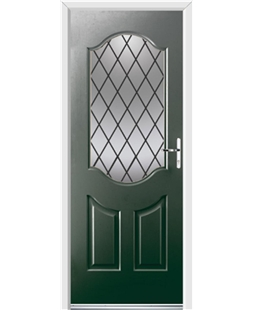 Ultimate Georgia Rockdoor in Emerald Green with Diamond Lead