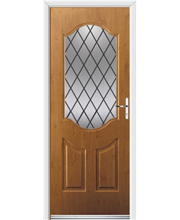 Ultimate Georgia Rockdoor in Irish Oak with Diamond Lead
