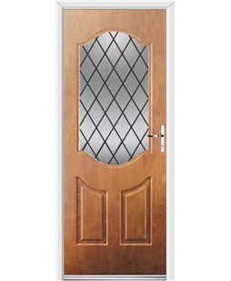 Ultimate Georgia Rockdoor in Light Oak with Diamond Lead