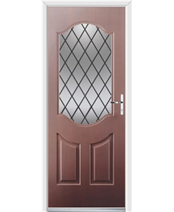 Ultimate Georgia Rockdoor in Mahogany with Diamond Lead