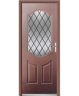 Ultimate Georgia Rockdoor in Rosewood with Diamond Lead