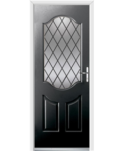 Ultimate Georgia Rockdoor in Onyx Black with Diamond Lead