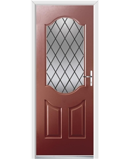 Ultimate Georgia Rockdoor in Ruby Red with Diamond Lead
