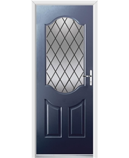 Ultimate Georgia Rockdoor in Sapphire Blue with Diamond Lead