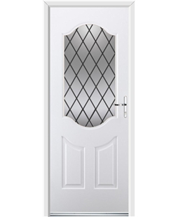 Ultimate Georgia Rockdoor in White with Diamond Lead